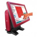 "POS-80 - Sistema - POS-80-INTEL Touch Industriale 15"" PC LCD VERT. ATOM 80 GB / 1 GB con Customer Display"